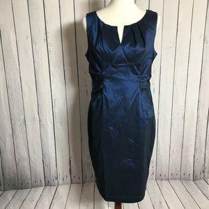 Shimmering Blue Metallic Adrianna Papell Dress